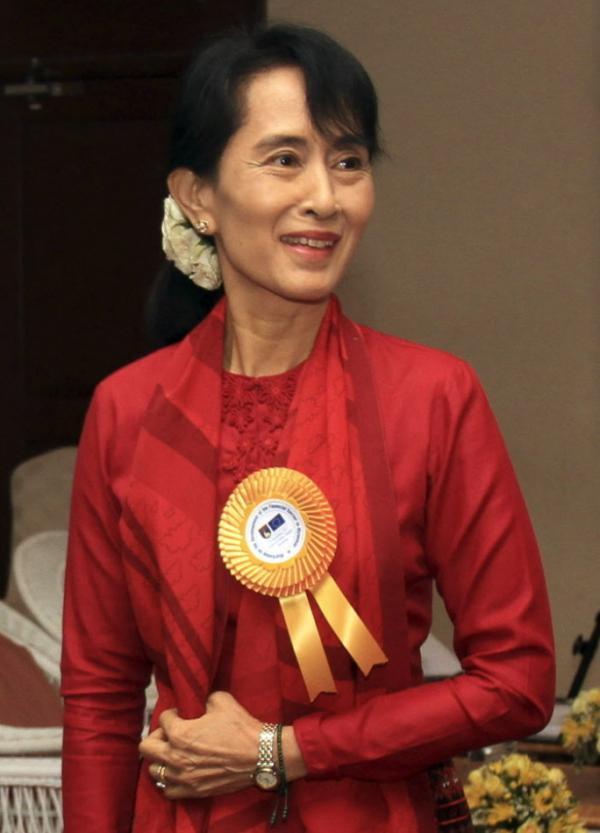 Myanmar pro-democracy leader Aung San Suu Kyi.