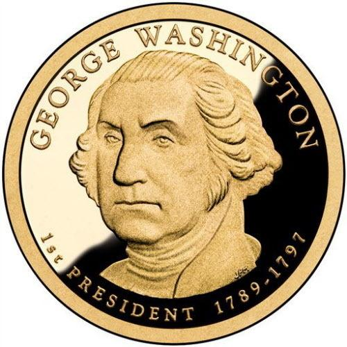 The $1 George Washington coin.