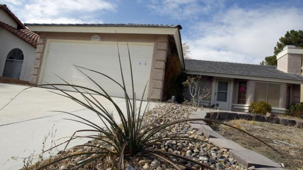 A vacant home in Las Vegas owned by Bank of America. Nevada continues to top the nation in unemployment, foreclosures and bankruptcies.