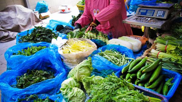 There is an astounding array of vegetables at the Ao Hua Farmers Market in Shanghai — far more than previous generations of Chinese every had to choose from.
