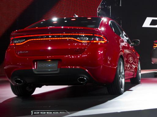 The 2012 Dodge Dart is unveiled at the North American International Auto Show in Detroit on Monday.
