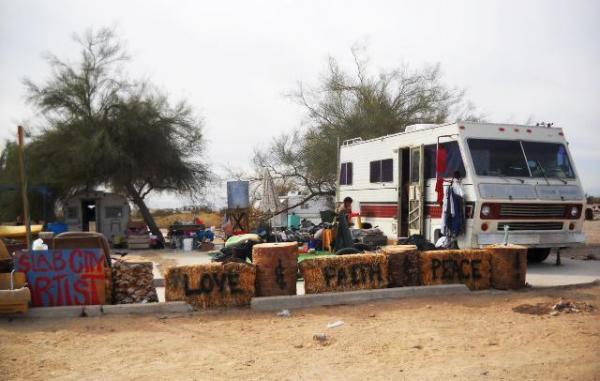 Slab City is an informal community in the California desert on the site of a former WWII artillery range. The recent recession has sent the town a new wave of people who have fallen on hard times and are looking to escape the burdens of modern life.