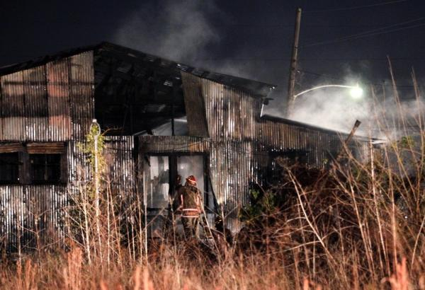 Eight young homeless people died in a fire at this abandoned warehouse in the Upper Ninth Ward of New Orleans, on Dec. 28, 2010. The blaze was sparked by wood burning in a barrel, which the squatters were using to stay warm during the freezing night.