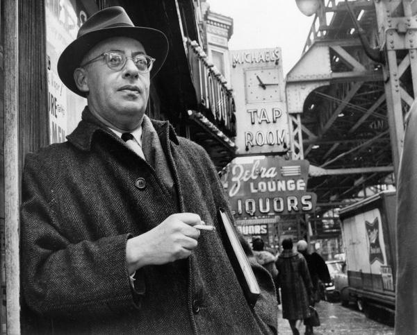Professional organizer Saul Alinsky in 1966, on Chicago's South Side, where he organized the Woodlawn area to battle slum conditions. Newt Gingrich has referred to Alinsky numerous times in recent speeches.