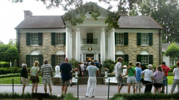 Graceland, home of Elvis Presley.