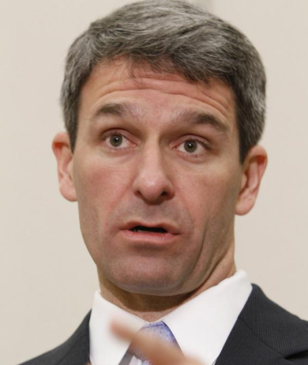 FILE - In this 2011 file photo, Virginia Attorney General Ken Cuccinelli gestures during a news conference in Richmond, Va.