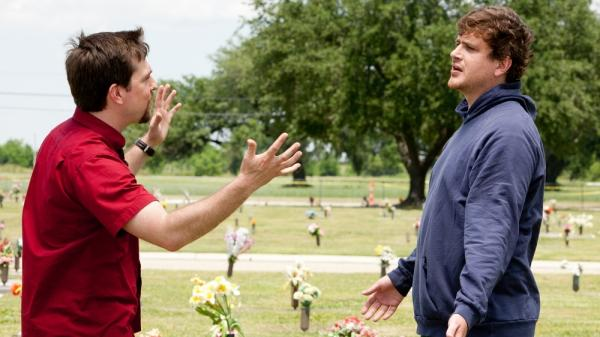 Two pairs of filmmaking brothers are both releasing movies this weekend. In <em>Jeff, Who Lives at Home,</em> by the Duplass brothers Jay and Mark, Pat (Ed Helms) and Jeff (Jason Segel) encounter each other in a day fraught with fateful events. Also opening is <em>The Kid with a Bike</em>, a Belgian slice-of-life drama from the Dardenne brothers, Jean-Pierre and Luc..