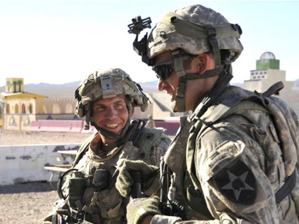 Staff Sgt. Robert Bales (left), the U.S. soldier who allegedly shot and killed 16 civilians in Afghanistan, at the National Training Center in Fort Irwin, Calif., on Aug. 23.
