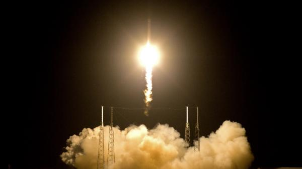 The Falcon 9 SpaceX rocket lifted off from space launch complex 40 at the Cape Canaveral Air Force Station in Cape Canaveral, Fla., early Tuesday.