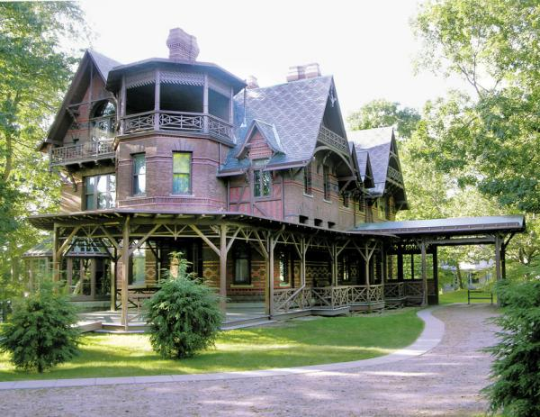 Mark Twain and his family enjoyed what the author would later call the happiest and most productive years of his life in their Hartford, Conn., home.