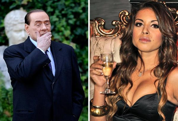 This composite image shows Berlusconi at Villa Madama in Rome and Moroccan Karima El Mahroug in a nightclub. Italian prosecutors allege Berlusconi paid to have sex with Mahroug when she was underage.