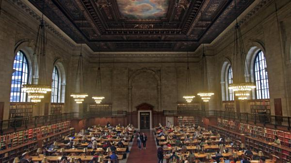 The New York Public Library's Rose Reading Room sits atop seven floors of book stacks, all closed to the public. Under a controversial renovation plan, many of those books would be moved to New Jersey.