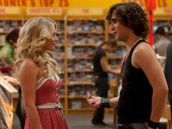 Julianne Hough and Diego Boneta as small-town girl Sherrie Christian and city boy Drew, who follow the typical boy-meets-girl love story in <em>Rock of Ages</em>.