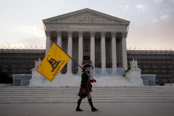 William Temple, of Brunswick, Ga., awaits the Supreme Court's landmark decision on health care.