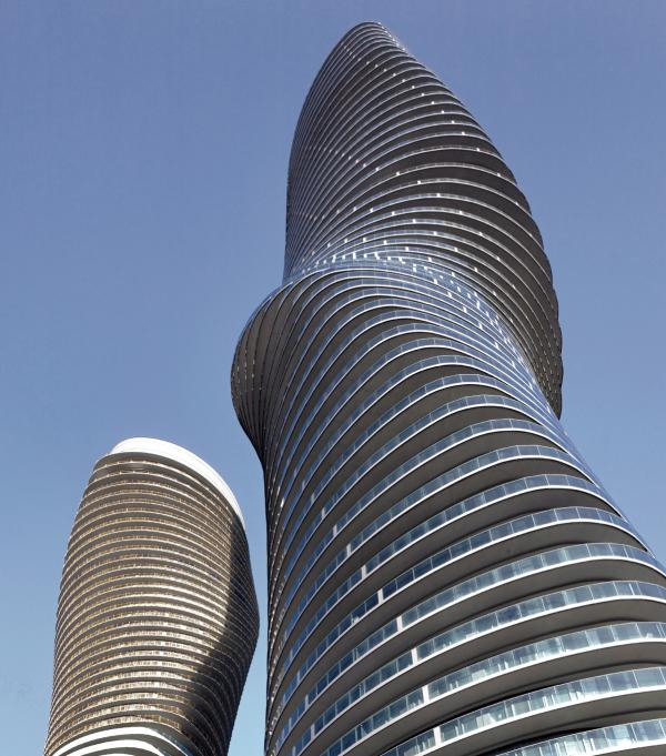 "The Absolute Towers, dubbed the ""Marilyn Monroe,"" Mississauga, Canada"