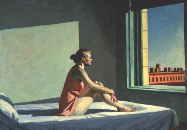 Edward Hopper's wife, Josephine N. Hopper, served as his model for 1952's<em> <em>Morning Sun</em><em>.</em> </em>
