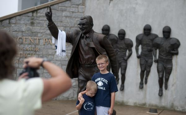 """The statue's sculptor, Angelo Di Maria, said it was upsetting to hear that it had been taken down. """"It's like a whole part of me is coming down. It's just an incredibly emotional process."""""""