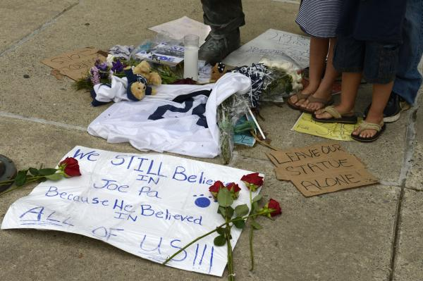 But Paterno still has plenty of fans, and Penn State's decision to remove the monument won't sit well with them.