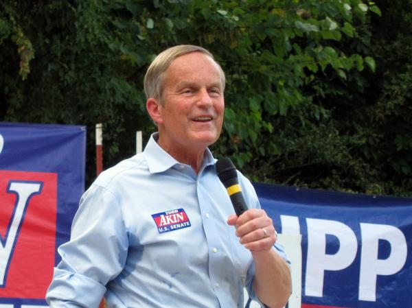 U.S. Rep. Todd Akin, R-Mo., who is seeking the GOP nomination for a Senate seat, has the backing of popular Republican Mike Huckabee.
