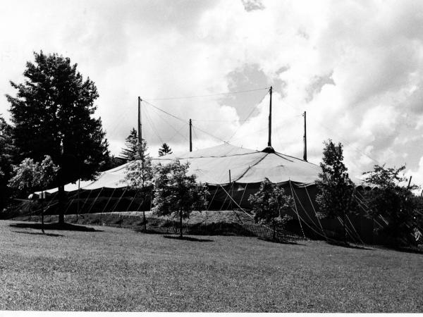 For the first Stratford Shakespeare Festival in 1953, a circus tent was brought from Chicago and raised on a hillside.
