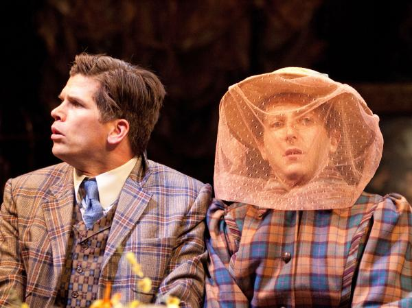 Mike Shara (left) as Cornelius Hackl and Josh Epstein as Barnaby Tucker in <em>The Matchmaker</em>, a play Thornton Wilder rewrote into its current form 50 years ago in Stratford<em> .</em>