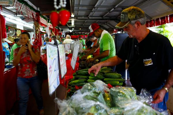 The market has grown from a simple fruit stand to a full-blown farmers market, open to the public seven days a week.