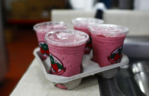 Jim Meeks says the key to winning the election is drinking a Parkesdale strawberry milkshake. He plans to vote for Republican Mitt Romney and his daughter-in-law plans to vote for President Obama.