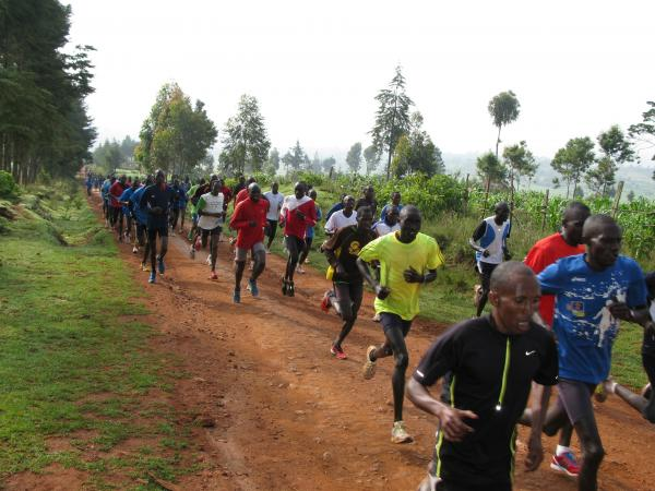 Every day at 9 a.m. sharp in Iten, Kenya, 200 or so runners train on the dirt roads surrounding the town.