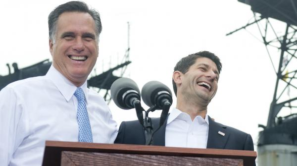 "Republican presidential candidate Mitt Romney laughed off his momentary lapse Saturday, when he introduced his new running mate, Rep. Paul Ryan, as ""the next president of the United States."" In 2008, President Obama had a similar slip."