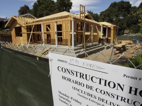 Sales of new homes, like this one in Palo Alto, Calif., rose 3.6 percent in July.