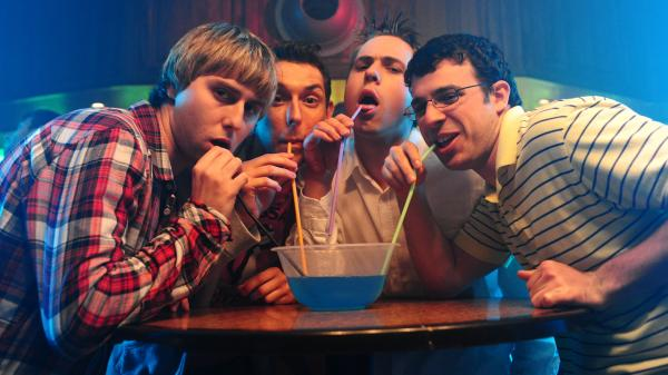 The four ne'er-do-wells of British comedy series <em>The Inbetweeners</em>, fresh out of high school, disembark to the isle of Crete for some tourism and, ultimately, sexual humiliation.