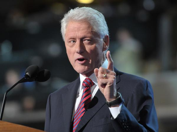 Former President Bill Clinton at the Democratic National Convention in Charlotte, N.C., Wednesday night.