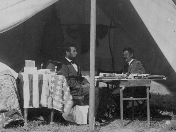 President Lincoln visited Gen. George McClellan at Antietam a few weeks after the battle, urging him to chase and engage Lee's damaged army. McClellan procrastinated, and Lincoln soon relieved him of command. The Civil War continued for almost three more years.