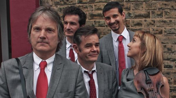 <em>Find the One</em> is the latest album by the alt-bluegrass act The Coal Porters, led by Sid Griffin (far left).