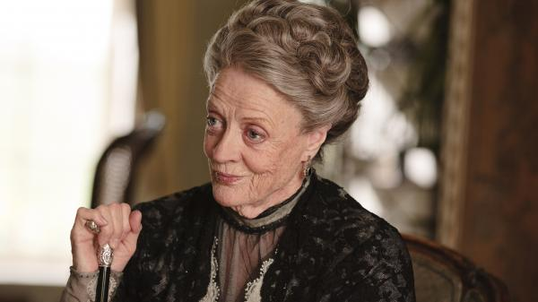 Maggie Smith as Violet, Dowager Countess of Grantham on <em>Downton Abbey</em>.
