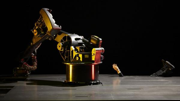 KUKA, an industrial robot developed in the '70s, is the unlikely star of a French <em>nouveau-cirque </em>piece premiering in the U.S. on Friday.