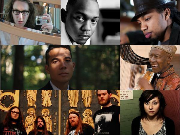 Clockwise from upper left: Acid Pauli, Kendrick Lamar, Samuel Yirga, Kelan Philip Cohran, Waxahatchee, Pallbearer, Matthew Dear