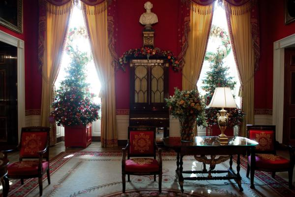 Christmas trees are ubiquitous: The White House has 54 up this year.