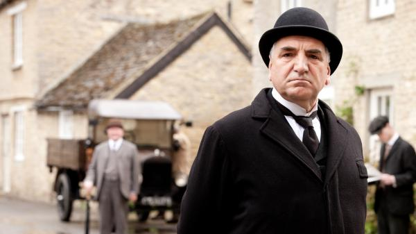 Jim Carter as Mr. Carson in <em>Downton Abbey.</em> The third season premiered on PBS Sunday.