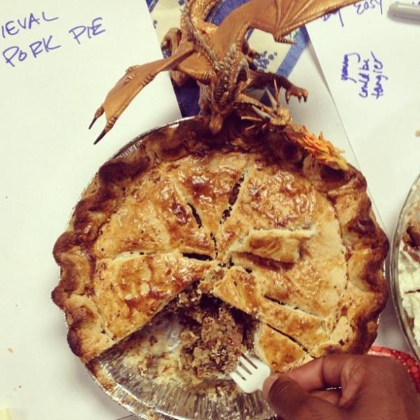 "This ""Medieval Meat Pie"" was submitted as an entry in <a href=""http://www.npr.org/blogs/thisisnpr/2012/06/20/155362686/pie-week-heats-up-at-npr-hq"">NPR's in-house pie contest</a>."