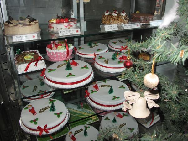 Christmas cakes filled the window at Wenger's, the fabled 86-year-old bakery in Delhi.