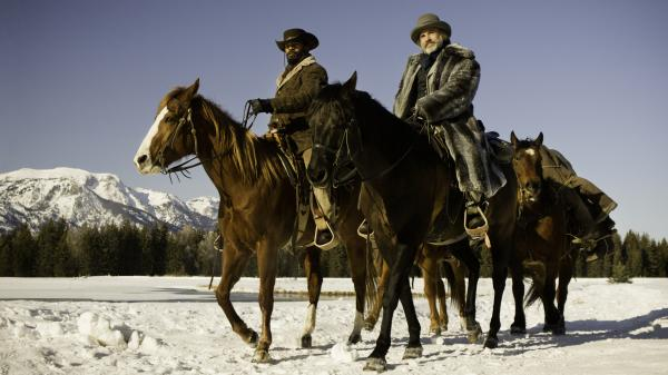 Christoph Waltz and Jamie Foxx star in Tarantino's new spaghetti western-inspired film, <em>Django Unchained</em>.