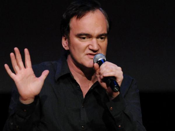 Writer-director Quentin Tarantino, seen here at a 2009 screening of <em>Inglourious Basterds,</em> tells Terry Gross that the only film violence that truly disturbs him involves actual harm to animals.