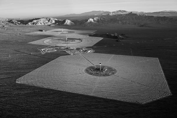 The three solar fields and their respective towers. October 2012.