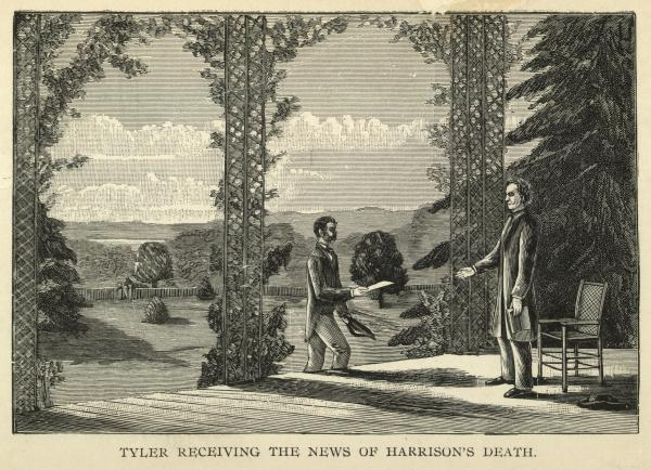 Following Harrison's death on April 4, 1841, John Tyler was the first vice president to assume the presidency by succession.