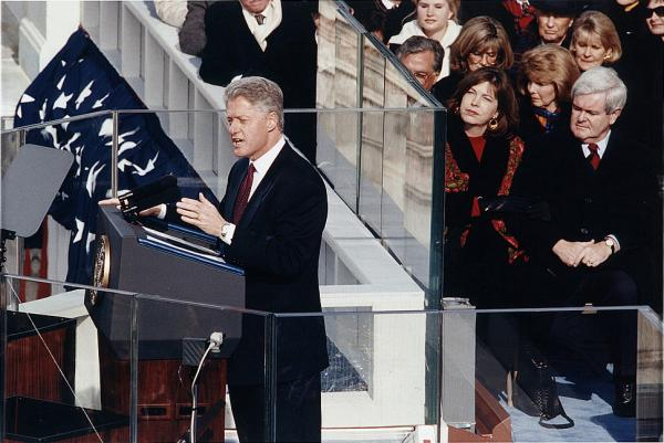 Jan. 20, 1997: Bill Clinton's second inauguration was the first to be broadcast live over the Internet.