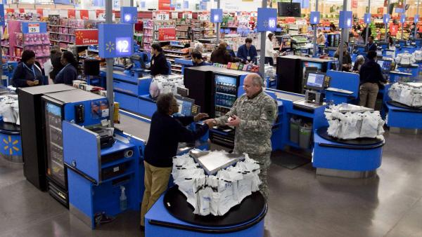 The scene in a Wal-Mart store in Alexandria, Va.