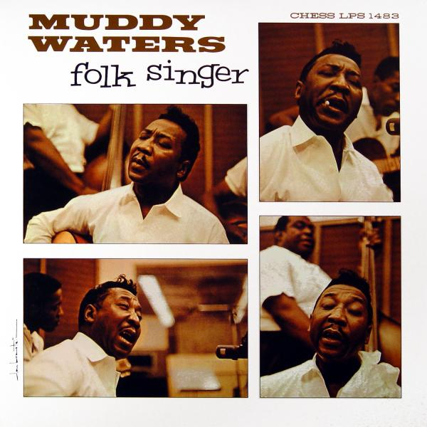 Cover art to Muddy Waters' <em>Folk Singer</em> LP.