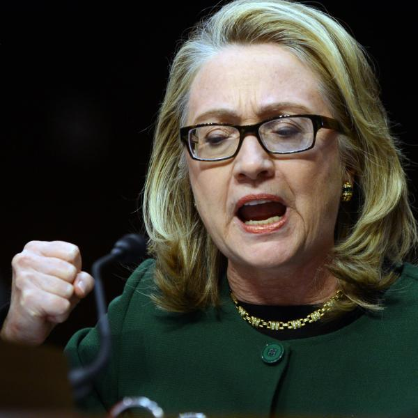 Secretary of State Hillary Clinton during her testimony Wednesday before the Senate Foreign Relations Committee.