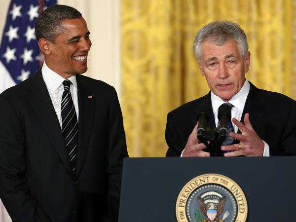 Former Sen. Chuck Hagel speaks after President Barack Obama nominated him for secretary of defense during an event at the White House on Jan. 7, 2013.